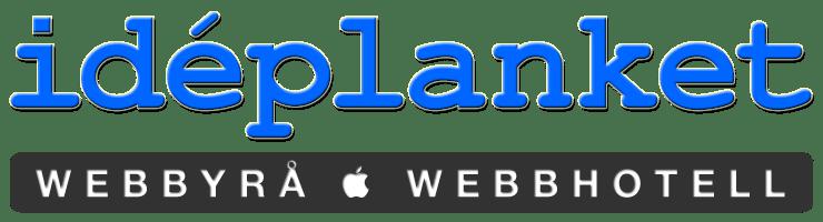 Idéplanket_logo2016-01-Webbyrå+Webbhotell_Transp_72dpi_w740x200